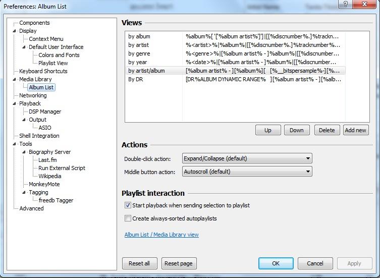 How to display Dynamic Range rating in Foobar2000 – Teribil